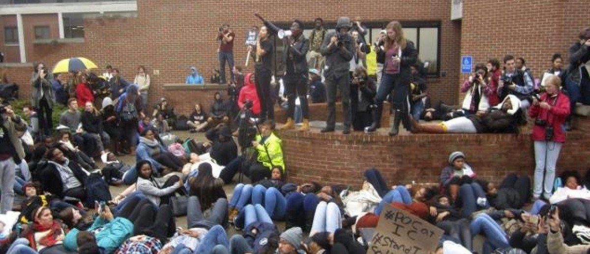 Protesters at Ithaca College [Reuters]
