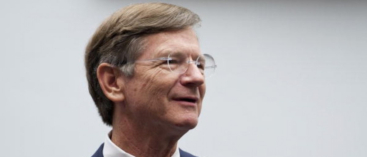 Rep. Lamar Smith, R-Texas, talks with witnesses. (Photo By Bill Clark/Roll Call via Getty Images)
