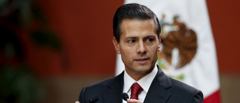 Mexico's President Enrique Pena Nieto speaks during a news conference at the National Palace in Mexico City