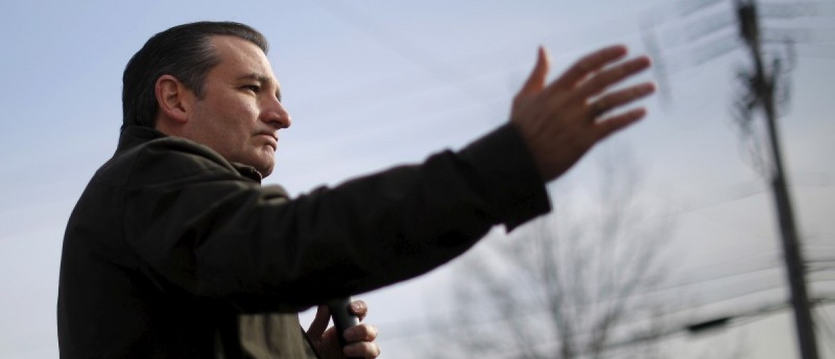 U.S. Republican presidential candidate and U.S. Senator Ted Cruz speaks at a Second Amendment campaign rally outside Granite State Indoor Range in Hudson, New Hampshire January 12, 2016. REUTERS/Brian Snyder