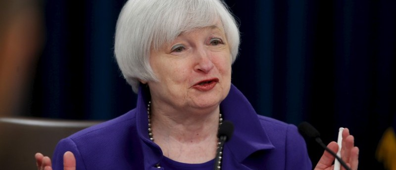 Yellen holds a news conference to announce raised interest rates in Washington