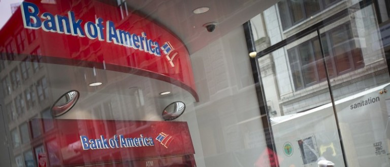 File photo of a Bank Of America ATM in the Manhattan borough of New York