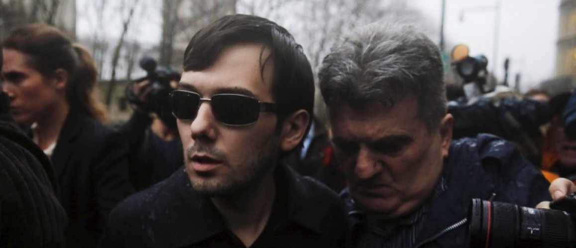 File photo of Shkreli, chief executive officer of Turing Pharmaceuticals and KaloBios Pharmaceuticals Inc, departing U.S. Federal Court in New York