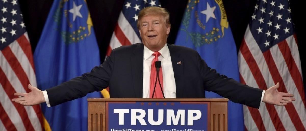 U.S. Republican presidential candidate and businessman Donald Trump (REUTERS/David Becker)