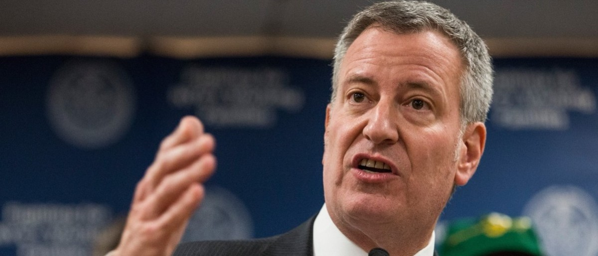 New York City Mayor Bill de Blasio supports the New York Safe Act which instituted some of the toughest gun control in the country. (Photo by Andrew Burton/Getty Images)