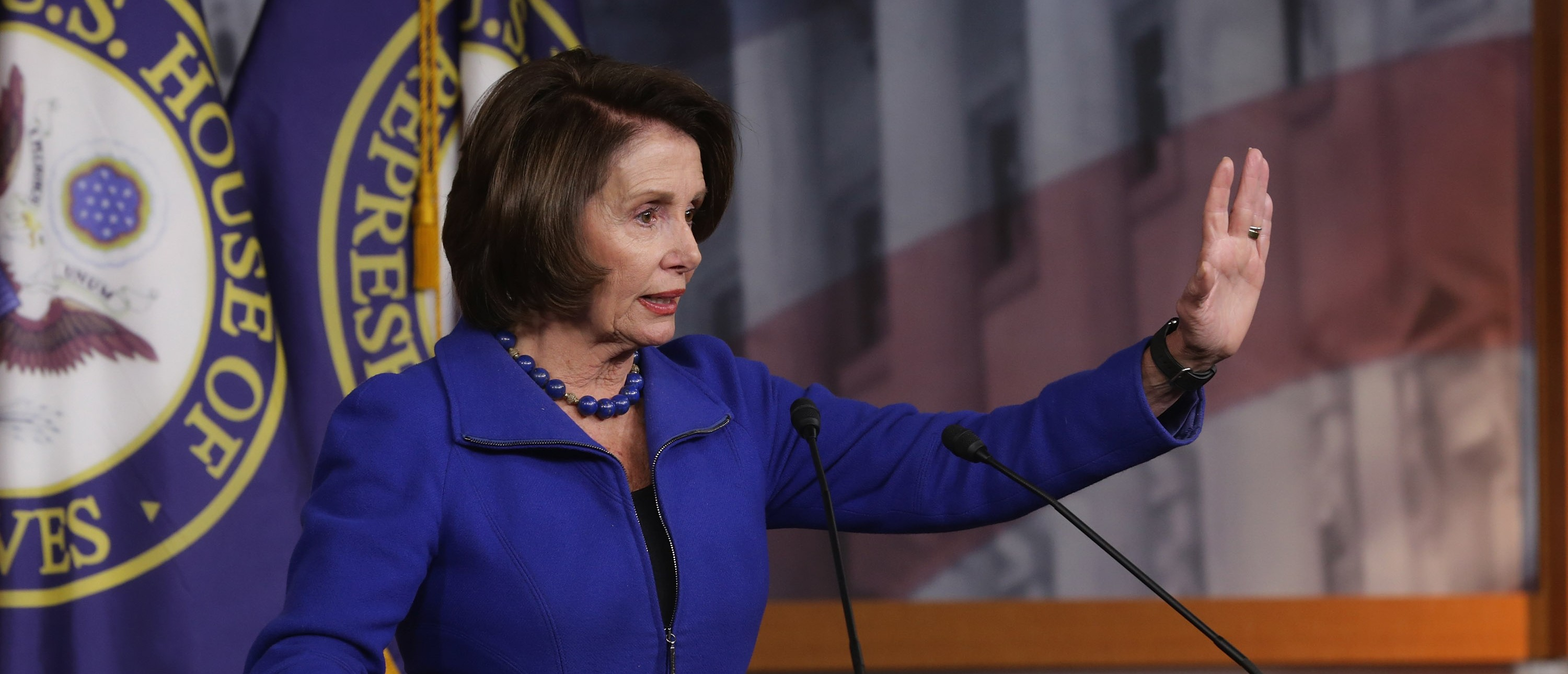 House Minority Leader Nancy Pelosi is a sure thing to vote for gun control. (Photo by Chip Somodevilla/Getty Images)