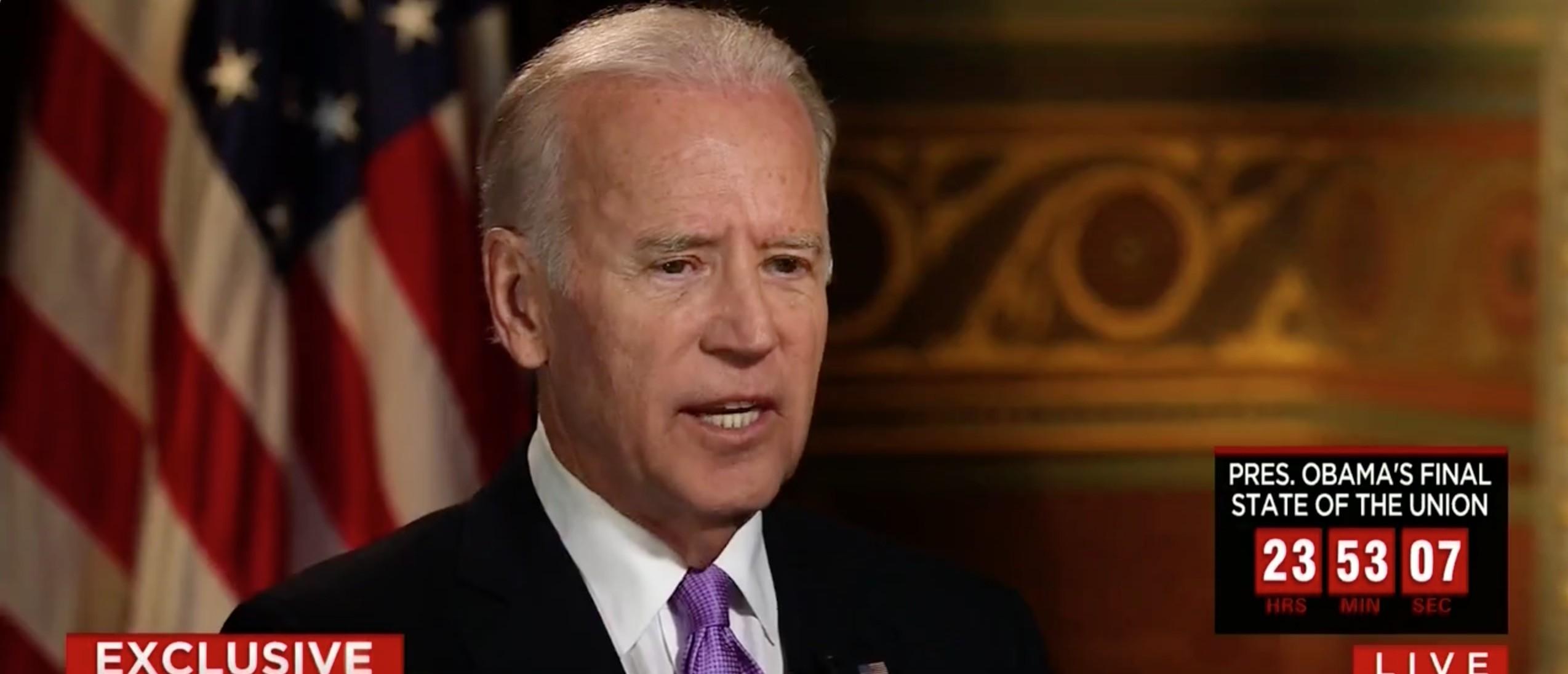 Biden: 'The Second Amendment Says You Can Limit Who Can Own A Gun' [screen shot CNN]