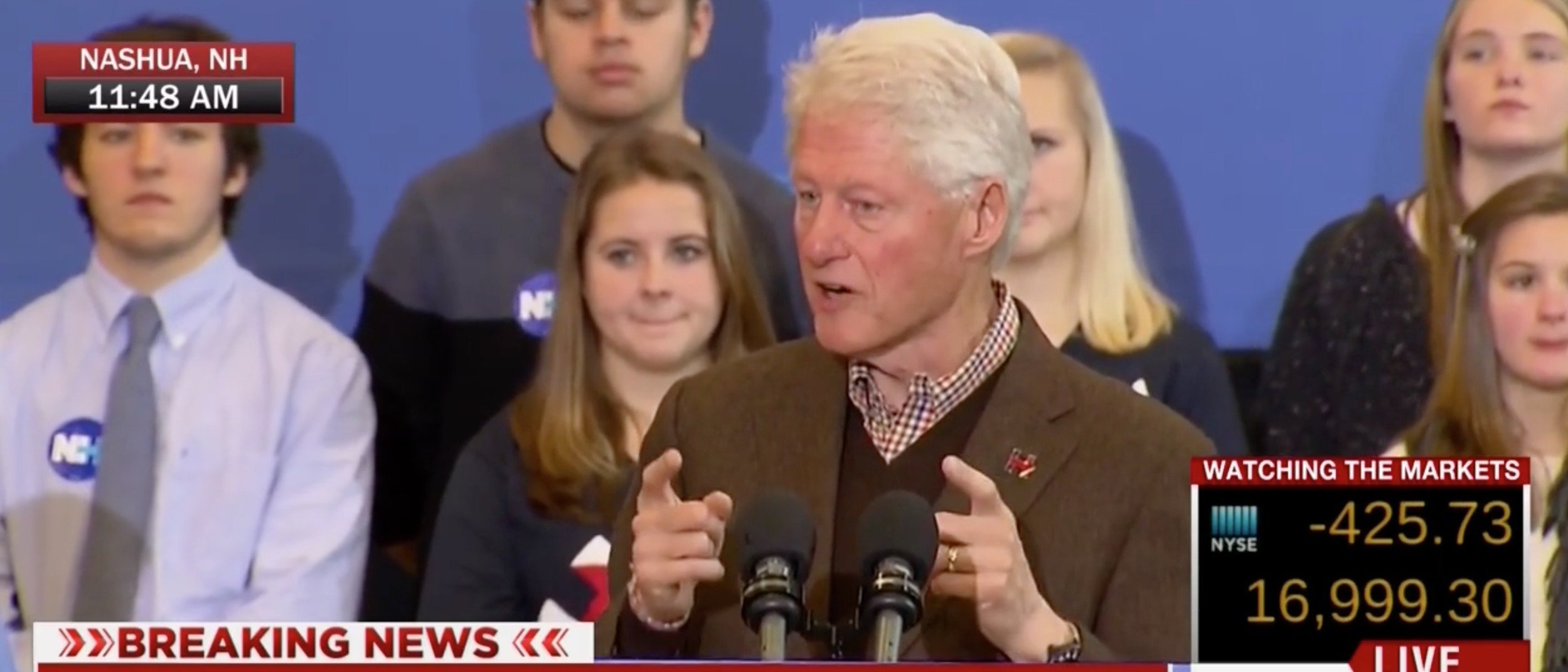 Bill Clinton Takes Shot At Trump's 'Temperament' [screen shot MSNBC]