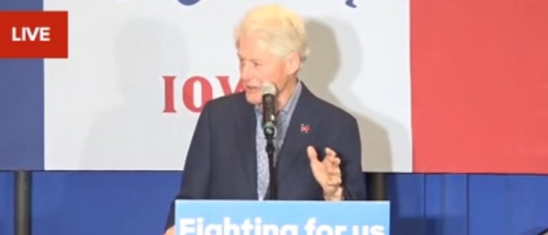Bill Clinton's Speech Causes Baby To Cry [screen shot YouTube]