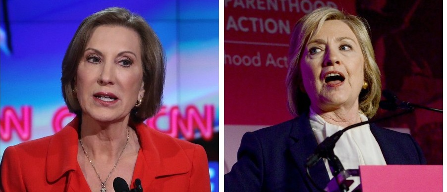 Carly Fiorina And Hillary Clinton