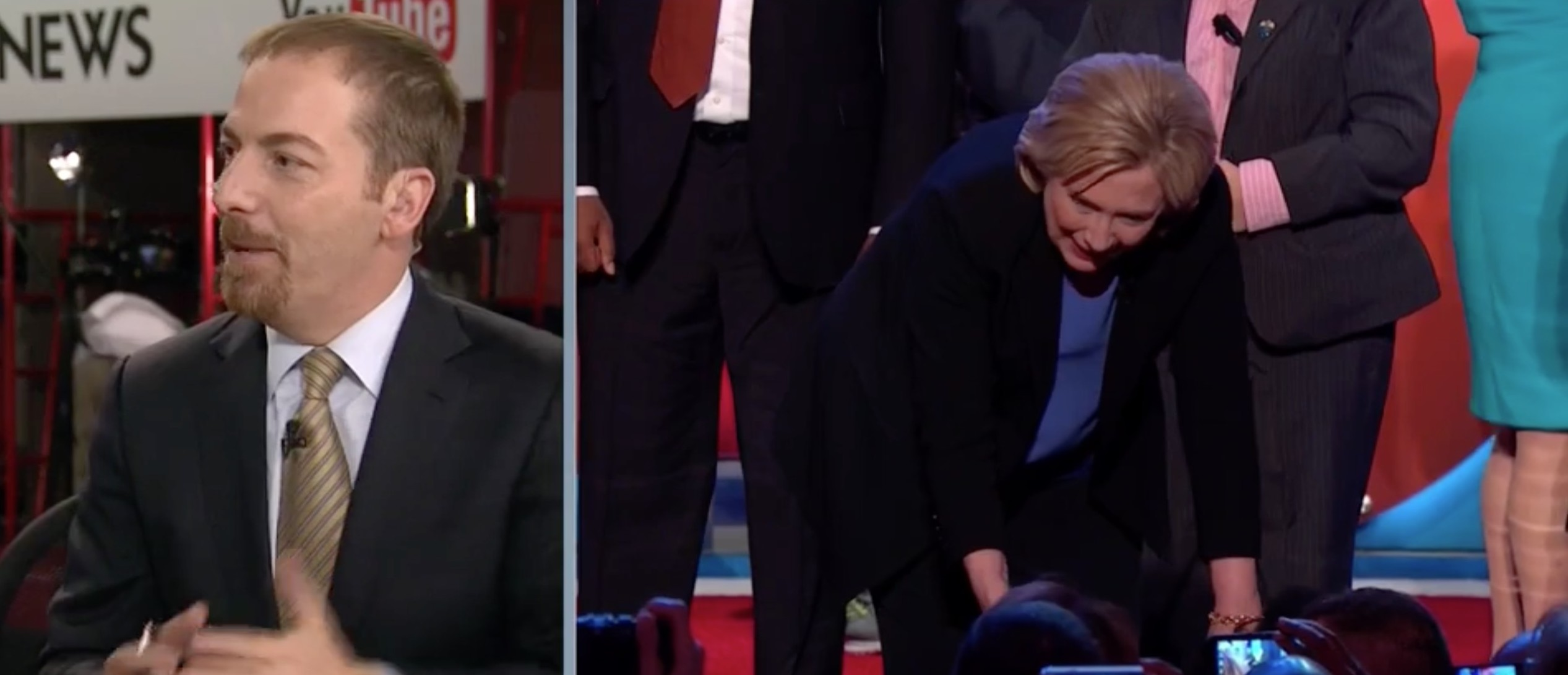 Chuck Todd: Hillary Was 'Wrapping Herself In President Obama' Tonight [screen shot NBC]