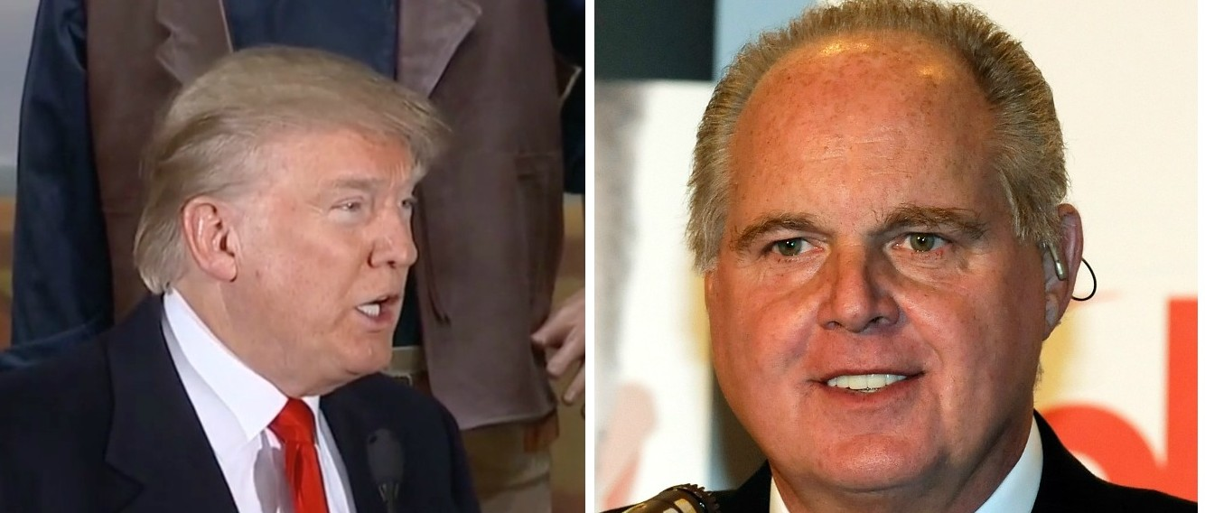 Despite Criticism, Donald Trump Says Rush Limbaugh Has Been 'Terrific To Me' [images via MSNBC and Getty]