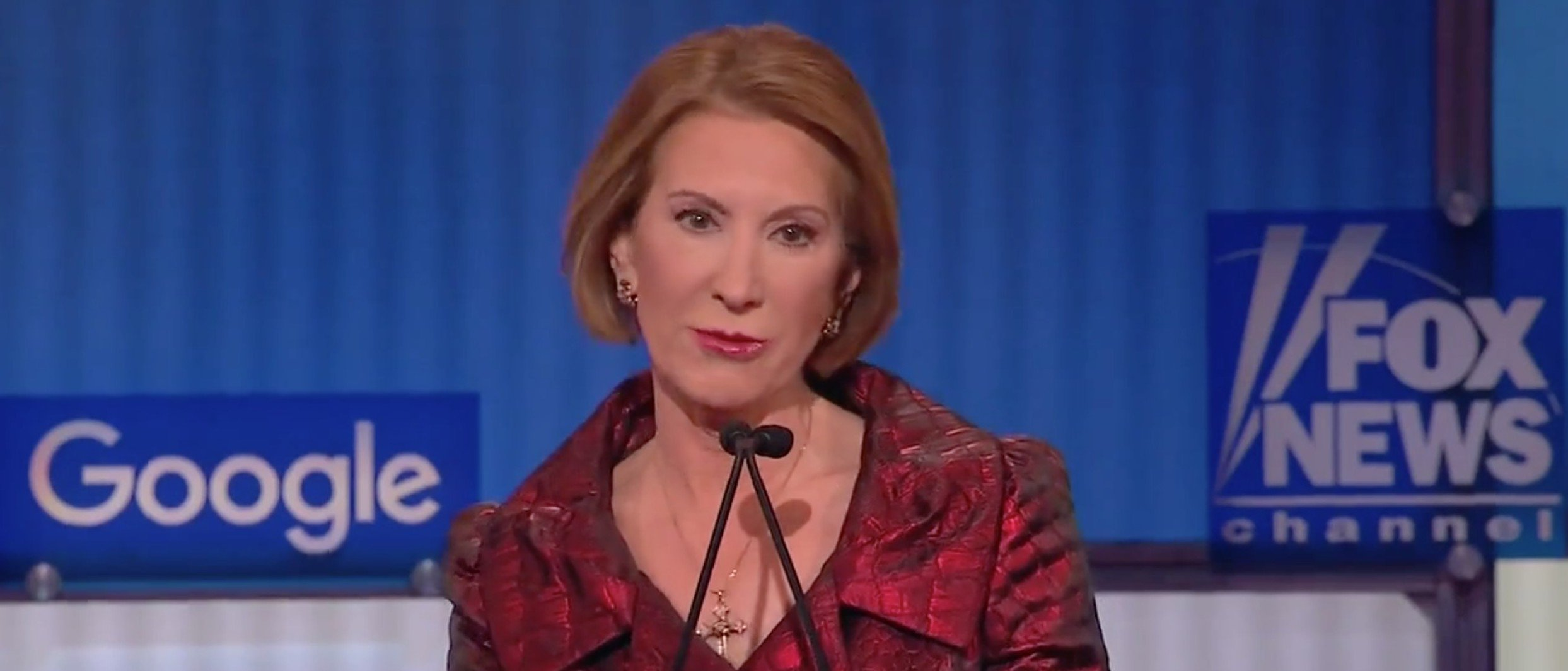 Fiorina: Hillary Clinton Is 'More Qualified For The Big House' Than The White House [screen shot Fox News]