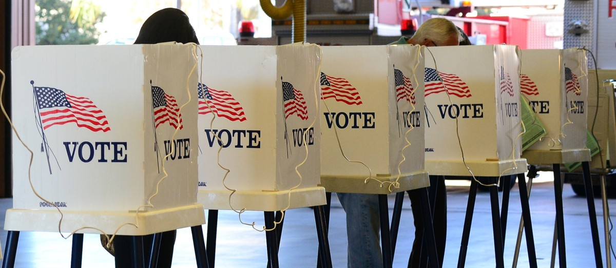 Citizens vote on Election Day. (FREDERIC J. BROWN/AFP/Getty Images)