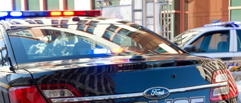A police cruiser (Photo credit should read KAREN BLEIER/AFP/Getty Images)