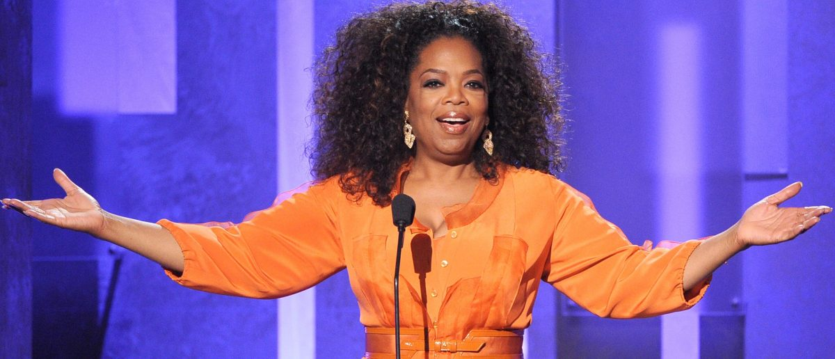 Oprah Winfrey speaks onstage during the 45th NAACP Image Awards presented by TV One at Pasadena Civic Auditorium on February 22, 2014 in Pasadena, California