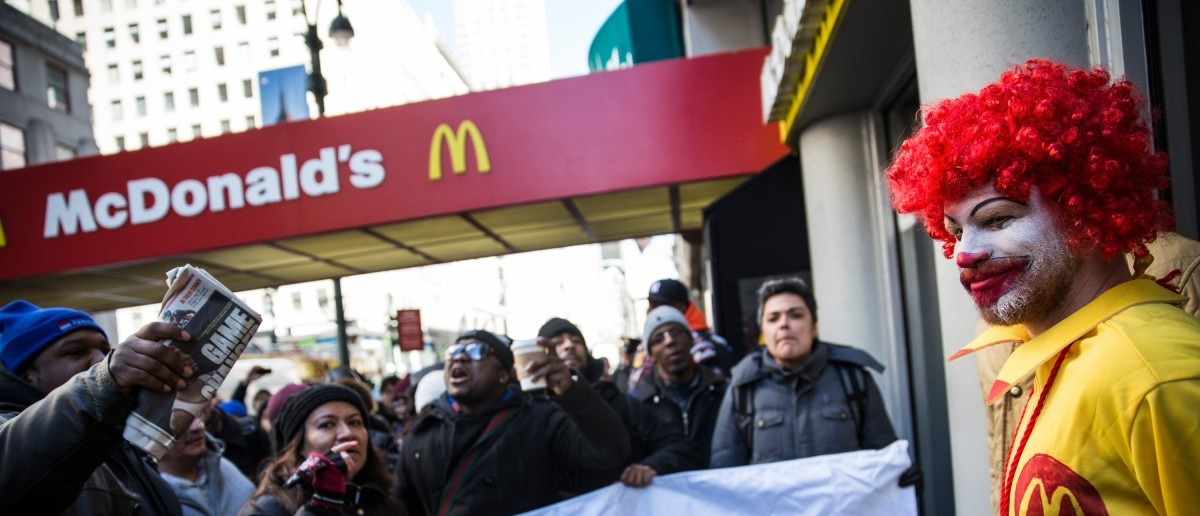 McDonald's protest (Photo by Andrew Burton/Getty Images)