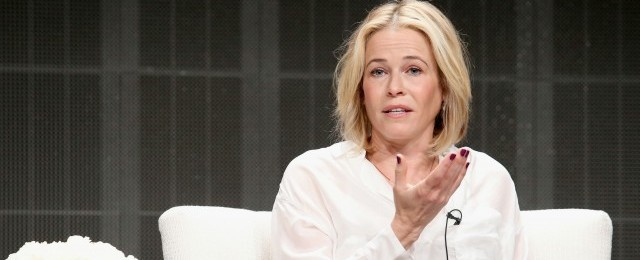 Comedian Chelsea Handler speaks onstage during the 'Chelsea Does' panel discussion at the Netflix portion of the 2015 Summer TCA Tour at The Beverly Hilton Hotel on July 28, 2015 in Beverly Hills, California. (Photo by Frederick M. Brown/Getty Images)