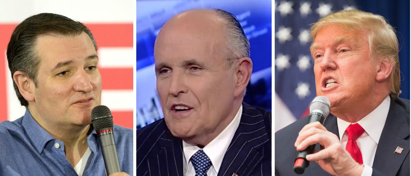 Giuliani Chooses Trump Over Cruz Because Trump's 'More Practical' [images via Getty, Fox News, Getty]