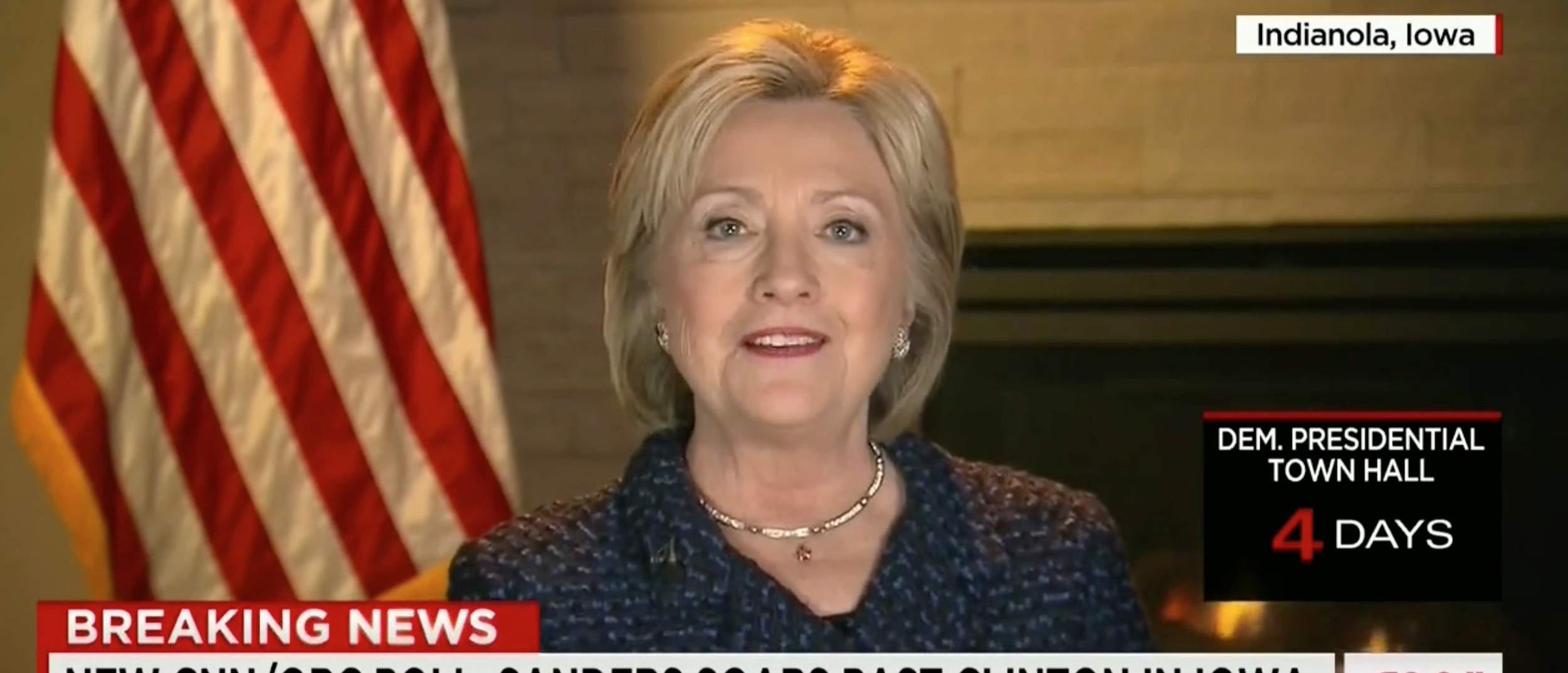 Hillary Clinton Doesn't Know If She Is The 'Establishment' [screen shot CNN]