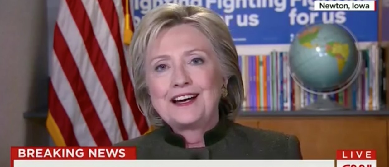 Hillary Doubles Down: Obama On The Supreme Court Is A 'Fascinating Idea' [screen shot CNN]