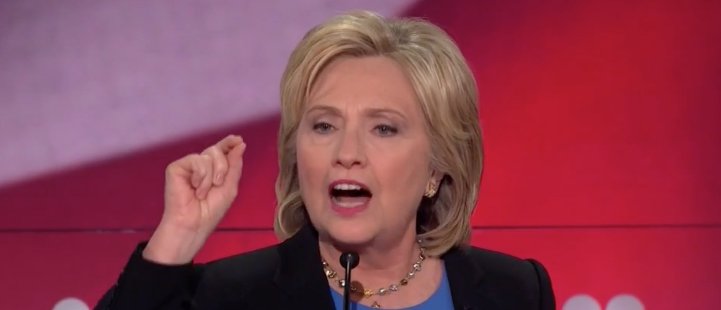 Hillary: To Help Flint, I Sent A Campaign Rep And Appeared On TV [screen shot NBC]