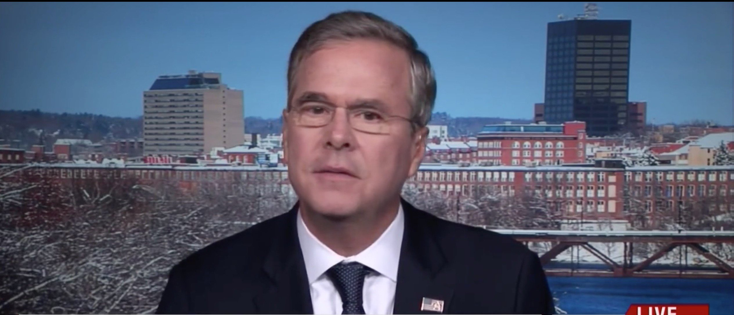Jeb Bush Says That Because Of Trump, Other Candidates Are In The 'Witness Protection Program' [screen shot MSNBC]