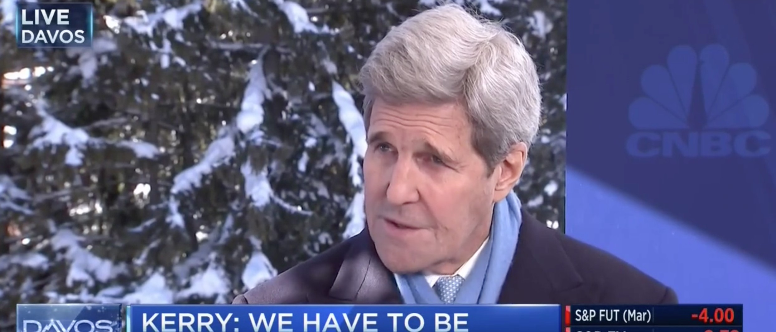 Kerry Acknowledges The Obvious: Iranian Sanctions Relief Funds Could End Up In Terrorists' Hands [screen shot CNBC]