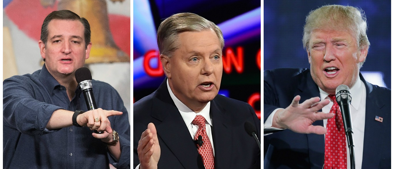 Lindsey Graham Goes Off Ted Cruz Is Worse Than Donald Trump [images via Getty]