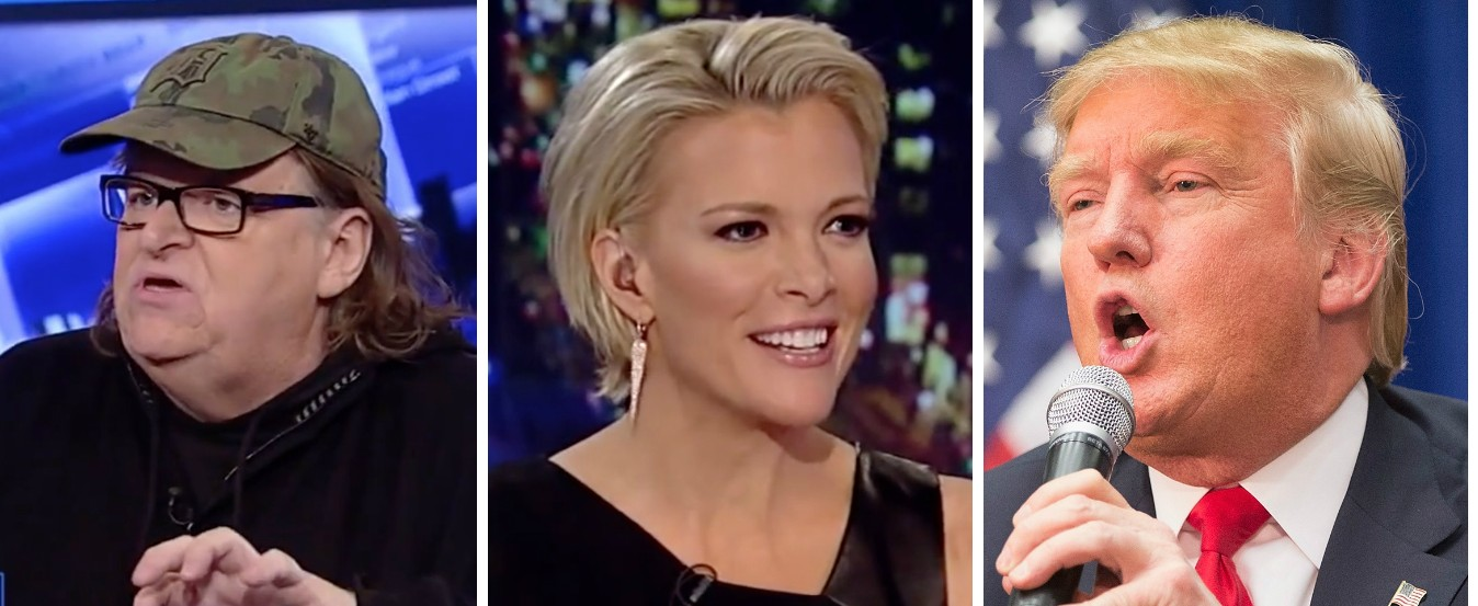 Michael Moore Mocks Trump For Being Afraid Of Megyn Kelly [Images via Fox News and Getty]