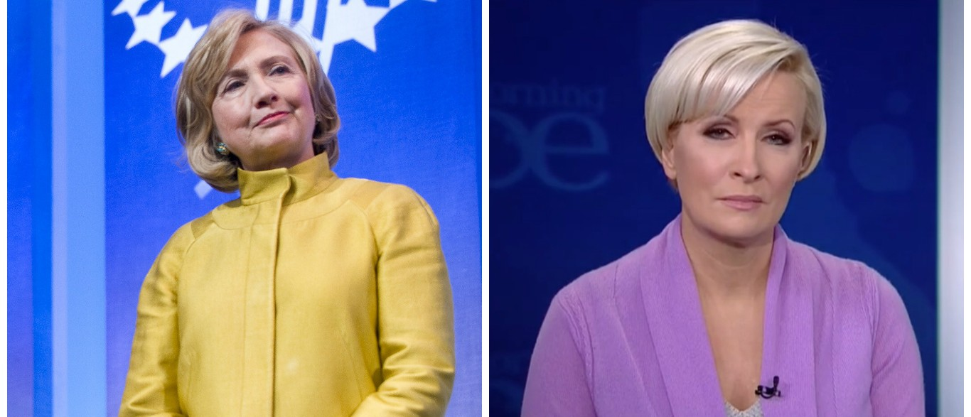 Mika Brzezinski Criticizes Hillary Clinton For Talking Out Of Both Sides Of Her Mouth Regarding Wall Street [images via Getty MSNBC]