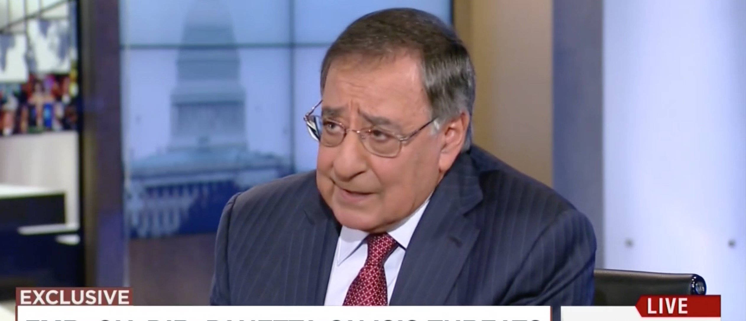 Panetta Warns: 'ISIS Has The Potential To Conduct A Paris Type Attack' In America [Screen shot MSNBC]