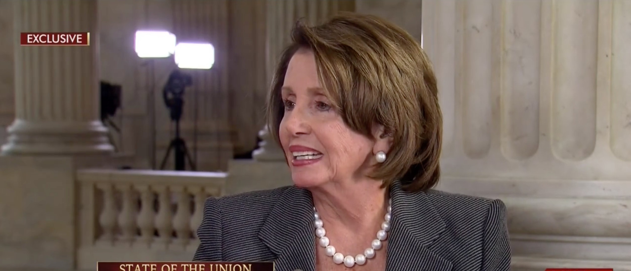Pelosi: It's Not Fair To Talk About Bill Clinton's Sexual Past [screen shot MSNBC]