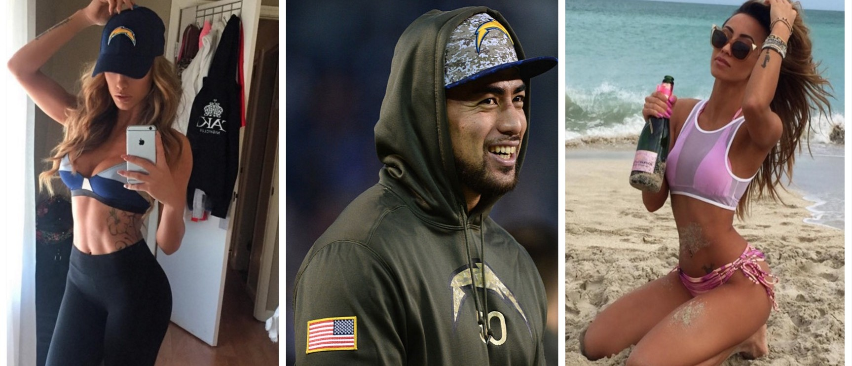 Here's Manti Te'o's -- Probably, Totally Real This Time -- Girlfriend (Instagram/Getty Images)
