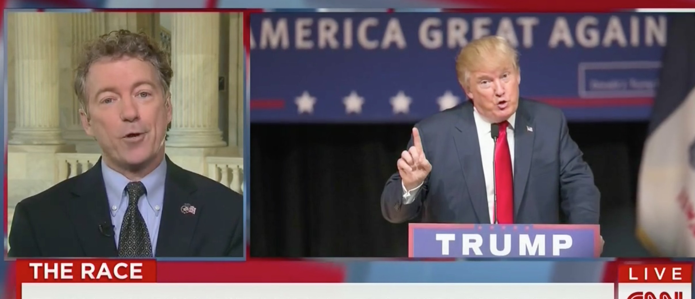 Rand Paul Blasts Trump: His Main Addition To Debate Has Been 'Silliness, Bombast, And Empty Rhetoric' [screen shot CNN]
