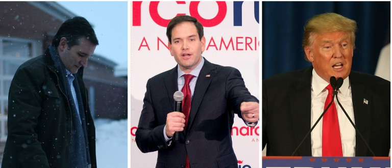 Rubio: The 'Theatrics' Of Trump And Cruz 'Have Nothing To Do With Defeating Hillary' [images via Getty]
