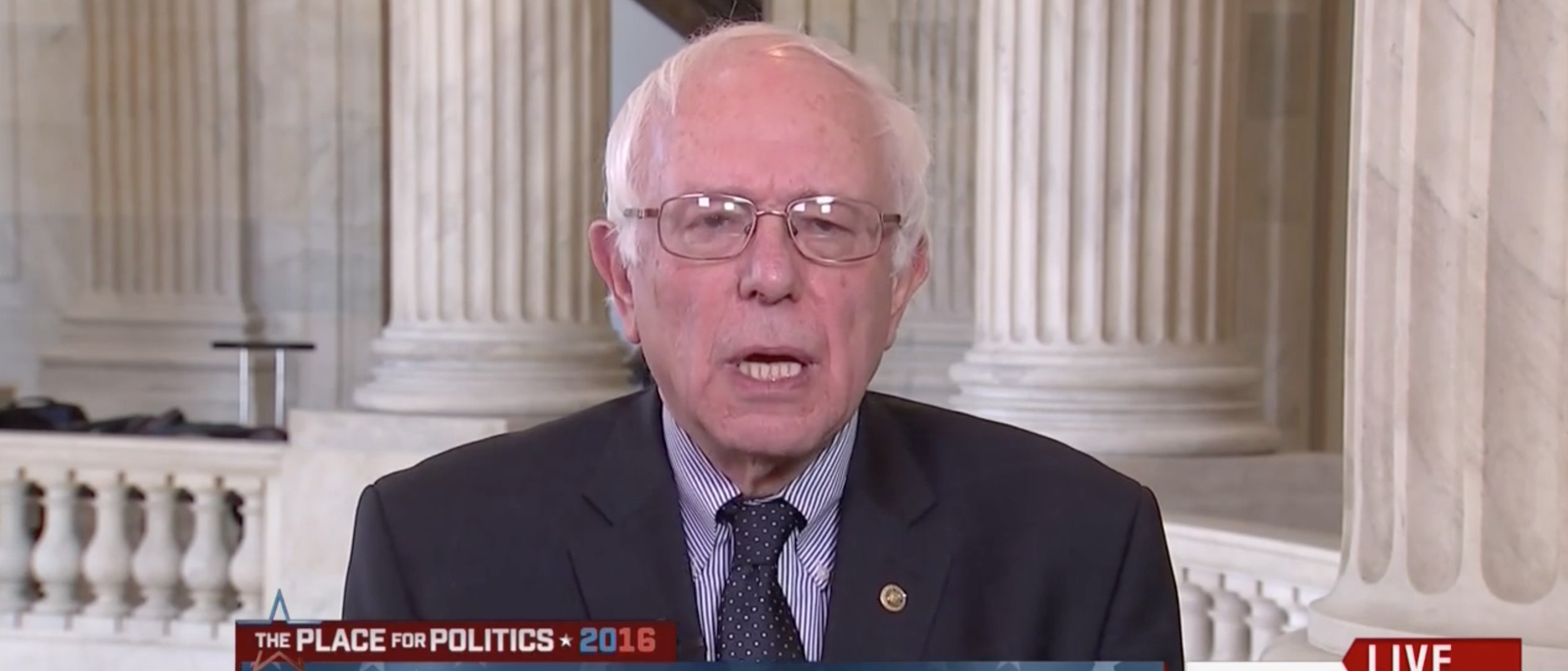 Sanders Doubts He Will Get Support From Democratic National Committee If He Wins [screen shot MSNBC]