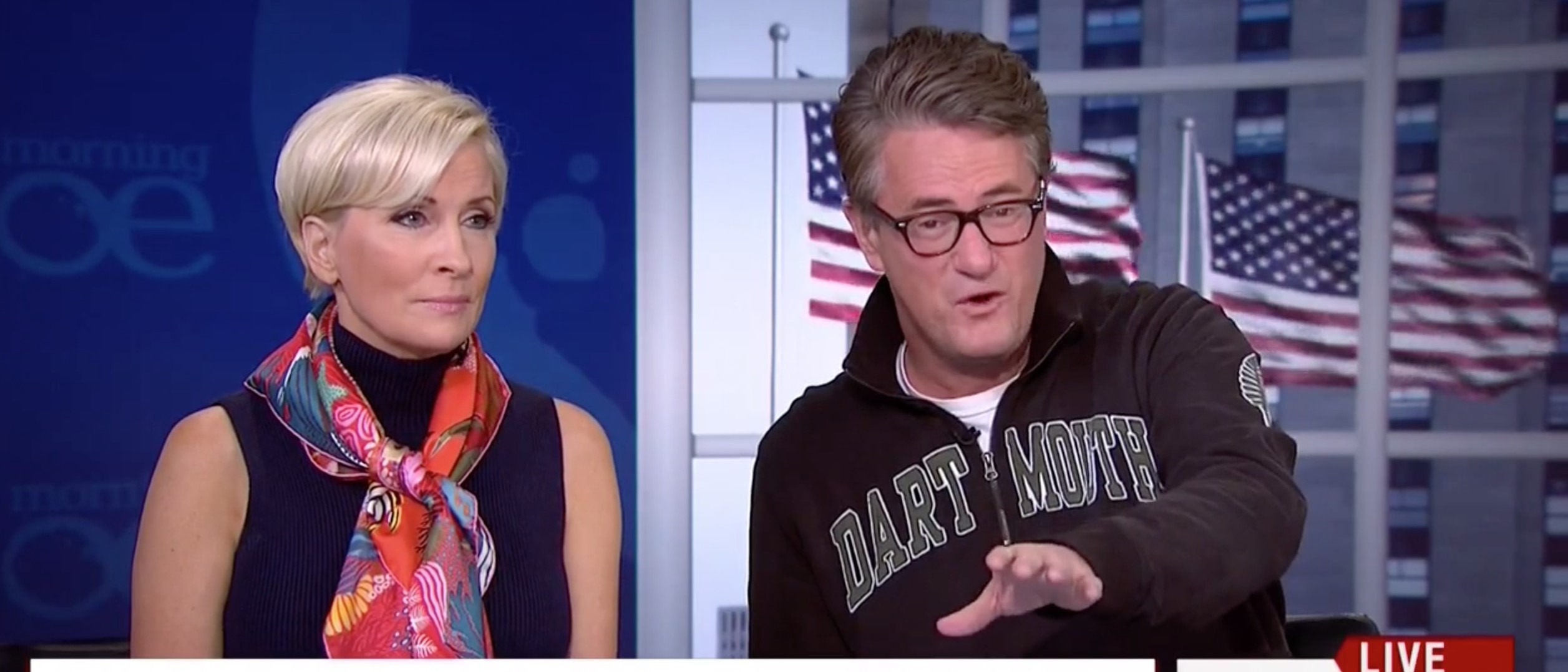 Scarborough Blasts Hillary Clinton 'Do Your Job' And Stop 'Looking Like A Robot' [screen shot MSNBC]