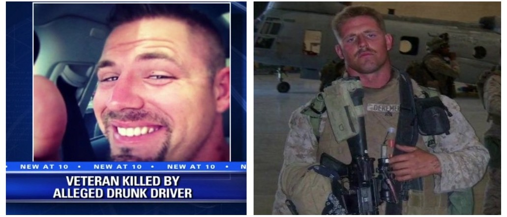 Veteran's Final Facebook Post Goes Viral After Being Killed By Drunk Driver On NYE (screenshots: Fox)