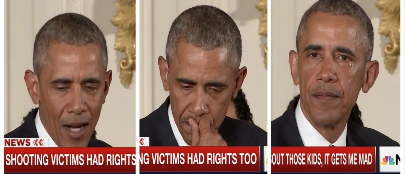 WATCH Obama Turn On The Waterworks Talking About Gun Control (screenshot: MSNBC)