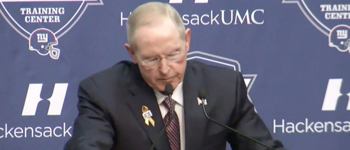 Tom Coughlin (Credit: Screenshot/Youtube Associated Press)