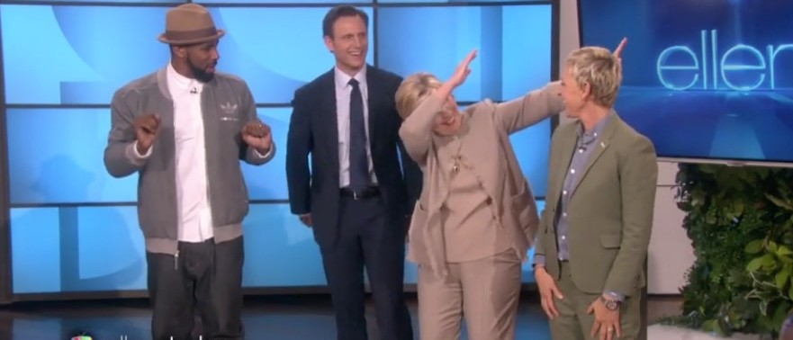 Watch Hillary Clinton Set White People Back 100 Years With Cringe-Worthy Dance Moves (screenshot: VidMe)