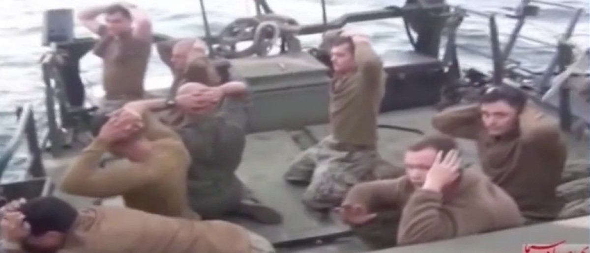 WATCH: Iran Releases Overnight Footage Of Captive US Sailors (screenshot: MSNBC)