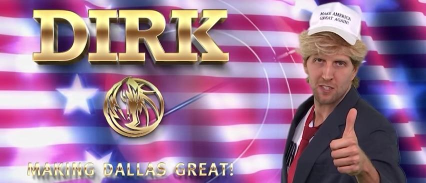 Mavericks, Dirk Nowitzki Channel Trump In 'Make Dallas Great Again' (YouTube)