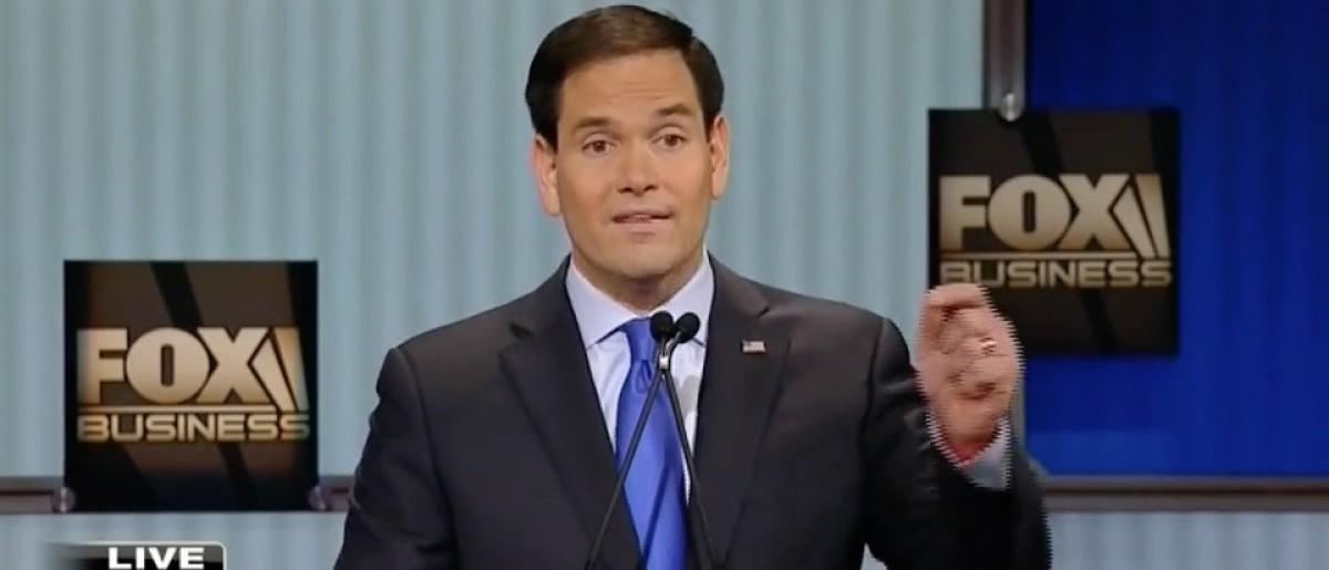 Rubio: 'The Second Amendment Is Not An Option' (screenshot: Fox Business)