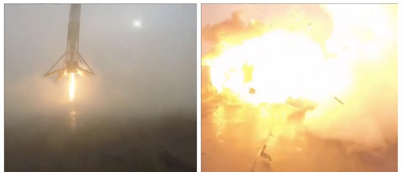 WATCH: Elon Musk's Rocket NAILS Landing (Just Kidding, LOL) (screenshot: Elon Musk Instagram)