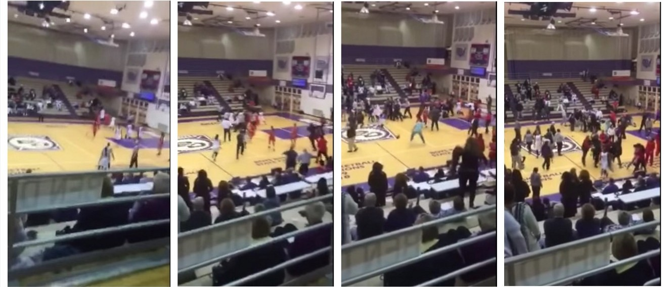 Girls Basketball Teams Have Seasons Cancelled After Bench Clearing Brawl (YouTube)
