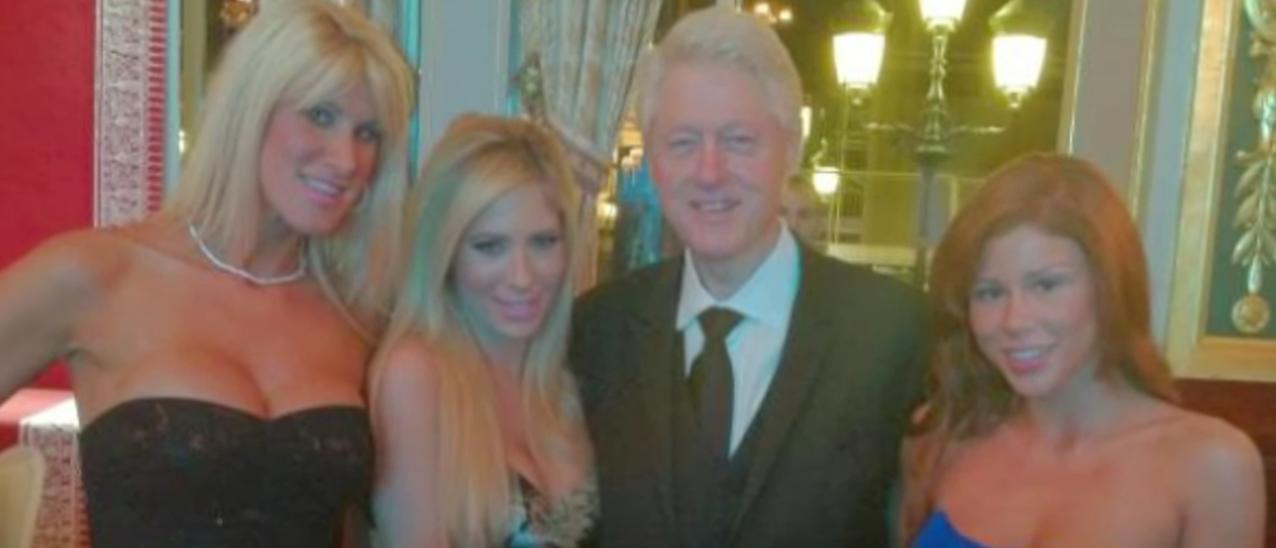 Billy with porn stars (Youtube screenshot/TMZ)