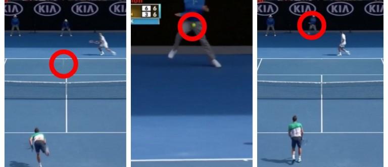 Tennis Ball Boy Takes A Ball Right In His Boys (screenshot: Vine)