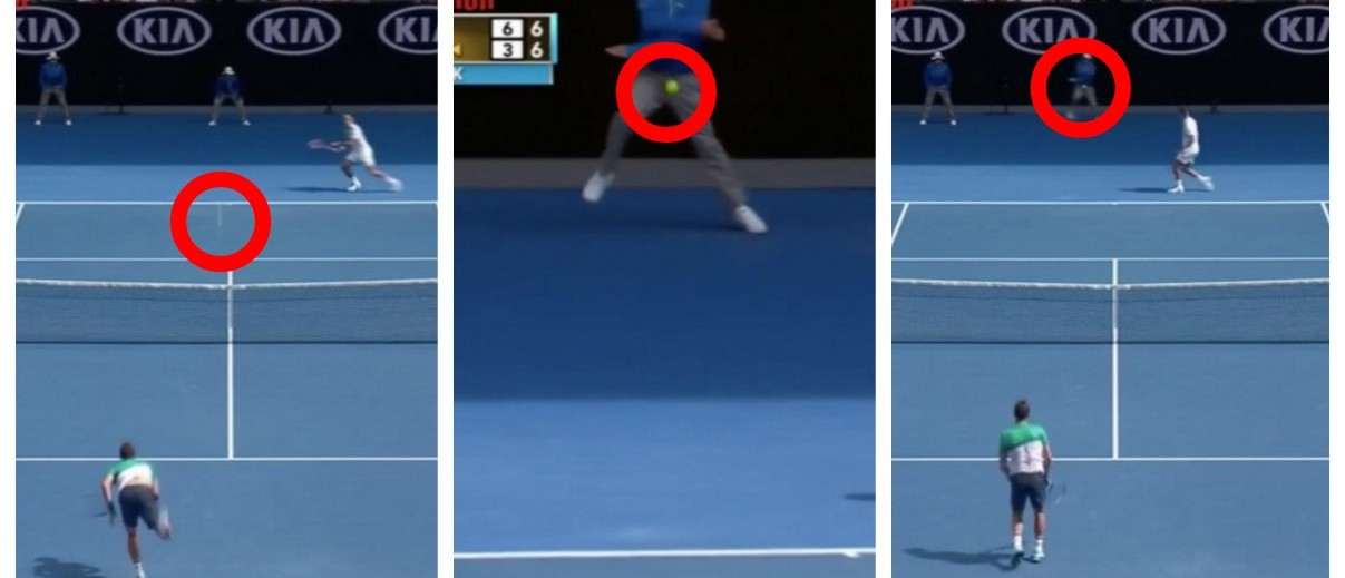 Tennis Ball Boy Takes A Ball Right In His Boys (screenshot: Vine)